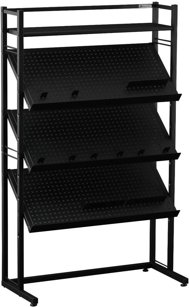 Bauhutte(バウヒュッテ) ゲーム機ディスプレイラック 幅80.5×奥行35.5×高さ130.5cm ブラック BHS-800G-BK【代引不可】【北海道・沖縄・離島配送不可】
