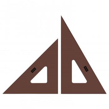 中古 製図用品です スモーク三角定規 24cm×2mm 1-809-8242 セール特価 北海道 沖縄 離島配送不可