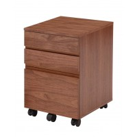【送料無料】Walnut Desk Chest(デスクチェスト) K-2315BR【代引不可】
