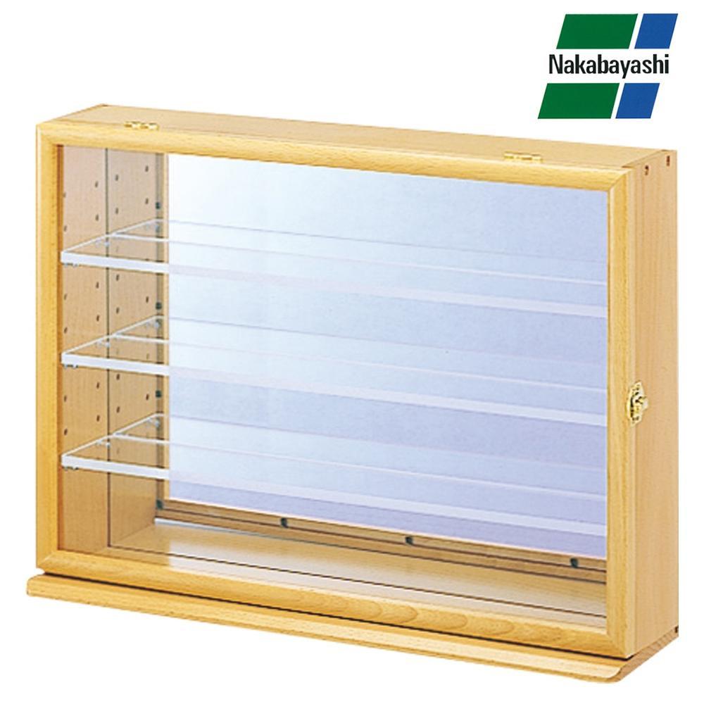 ナカバヤシ コレクションケース ワイド 透明アクリル棚板タイプ ナチュラル木目 CCM-202NM 【代引不可】