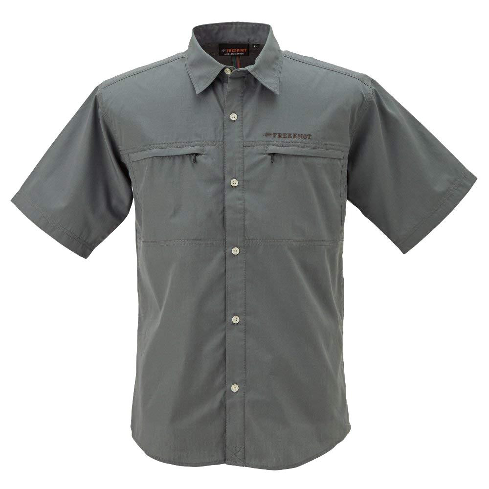BOWBUWN ライトフィールドシャツショートスリーブ チャコール(93) LLサイズ Y1432-LL-93 【代引不可】