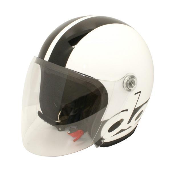 ダムトラックス(DAMMTRAX) JET-S DAMM&RAX dammtrax ヘルメット WHITE/BLACK 【代引不可】