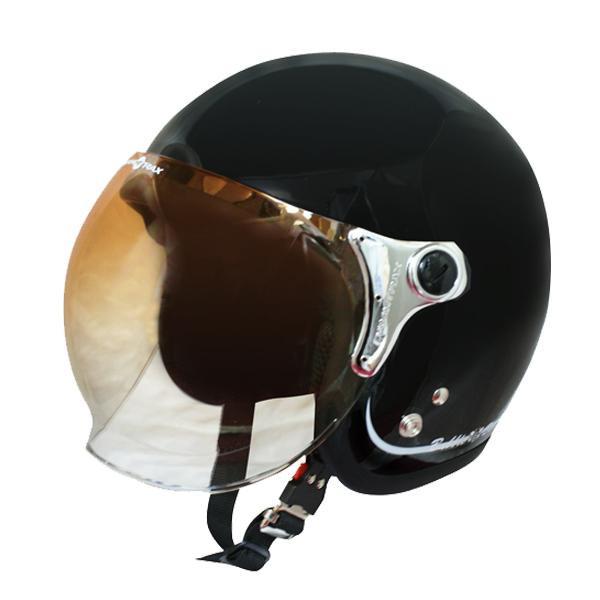 ダムトラックス(DAMMTRAX) バブル ビー ヘルメット PEARL BLACK 【代引不可】