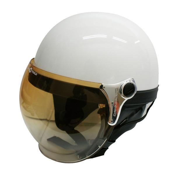 ダムトラックス(DAMMTRAX) バブル ビー ハーフ ヘルメット PEARL WHITE 【代引不可】【北海道・沖縄・離島配送不可】
