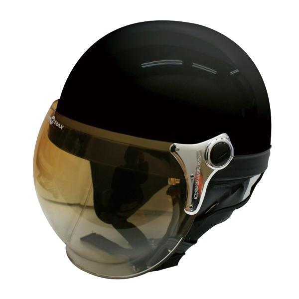 ダムトラックス(DAMMTRAX) バブル ビー ハーフ ヘルメット PEARL BLACK 【代引不可】【北海道・沖縄・離島配送不可】