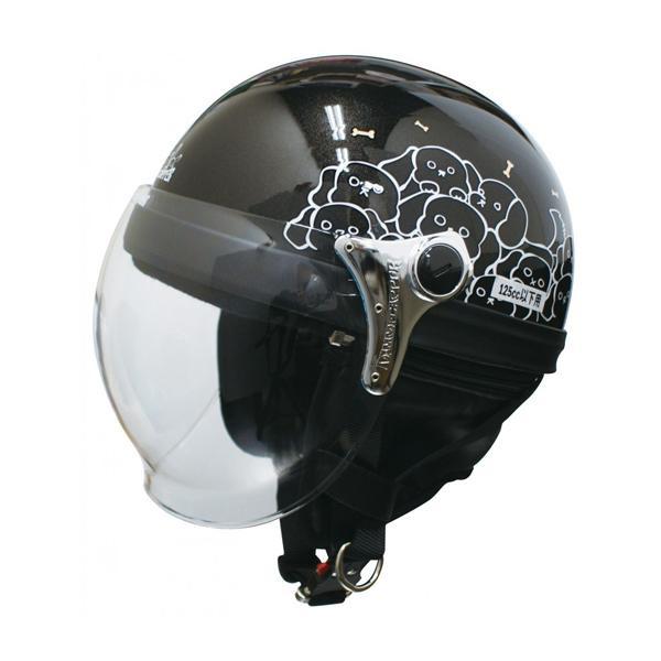 ダムトラックス(DAMMTRAX) カリーナ ハーフ ヘルメット BLACK/DOG 【代引不可】【北海道・沖縄・離島配送不可】