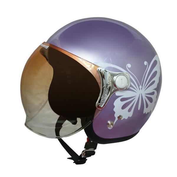 ダムトラックス(DAMMTRAX) NEW チアーバタフライ ヘルメット PURPLE 【代引不可】【北海道・沖縄・離島配送不可】