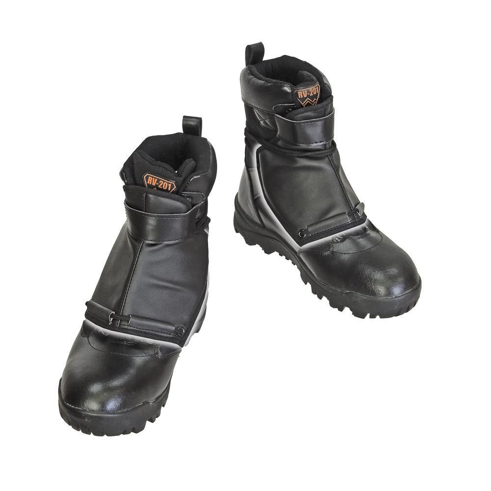 防護材付スパイク作業靴 甲ガード付スパイクシューズ RV-201G 25.0 【代引不可】