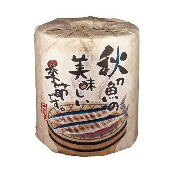 秋の販促品 秋刀魚の美味しい季節です トイレットペーパー 100個入 2963 【代引不可】