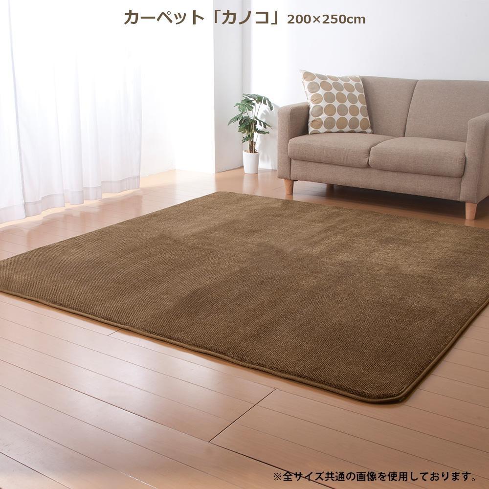 カーペット 「カノコ」 200×250cm ブラウン FIN-745LBR 【代引不可】