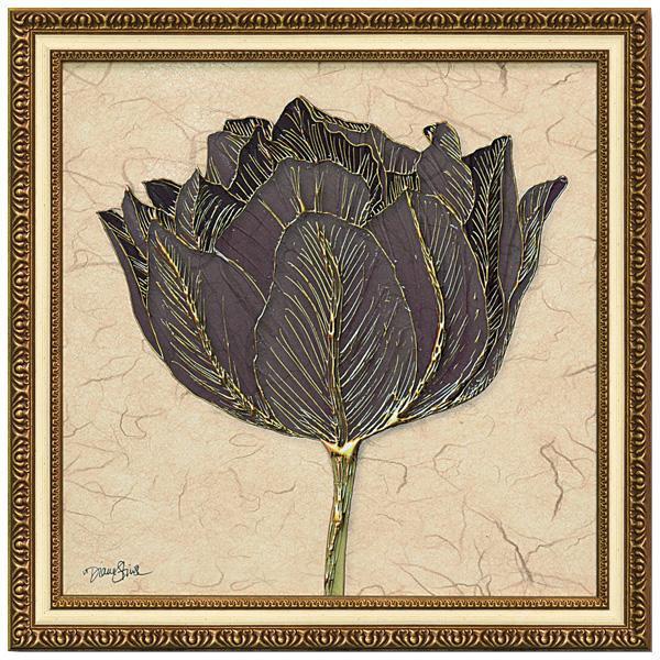 ユーパワー アートフレーム ダイアン スティムソン「ゴールド ブラック チューリップ」 DS-13023 【代引不可】【北海道・沖縄・離島配送不可】