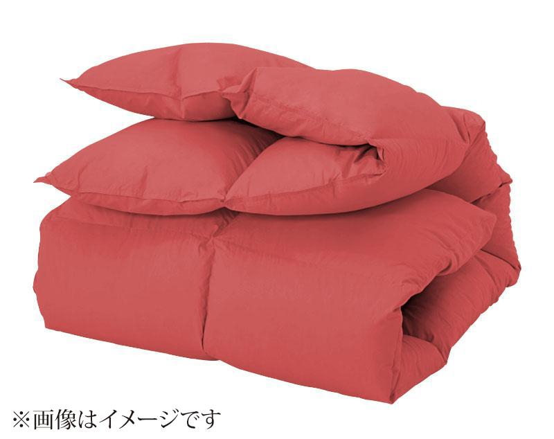 【送料無料】新20色羽根掛布団(ダブル) ローズピンク/ダブル【代引不可】