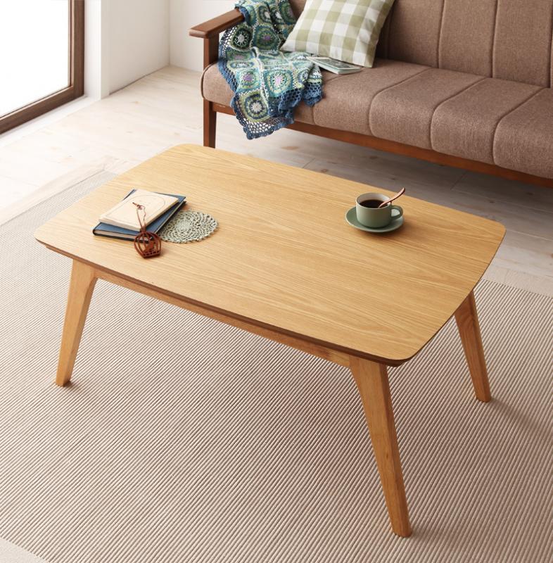 【送料無料】天然木オーク材 北欧デザインこたつテーブル 〔Trukko〕トルッコ/長方形(90×60) オークナチュラル【代引不可】