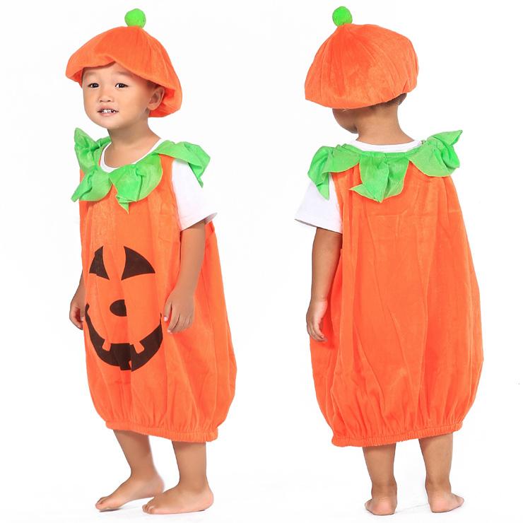 3504a486f1d8 FJK costume pumpkin (pumpkin costume) hat set child size cosplay kigurumi  costumes for children new