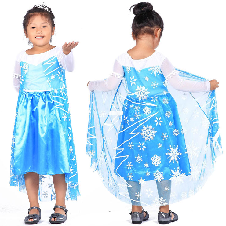 8cdd9126a4fe FJK costume hole and a child costume play clothes child service Princess  dress of the Snow Queen Frozen Elsa Elsa FJK-014 kids woman are new