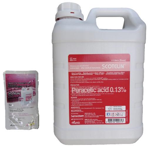 【送料無料】スコテリン(過酢酸系除菌洗浄剤) 構成品:A溶液(4Lタンク)×2本、B溶液(90mlパック)×2コ【代引不可】