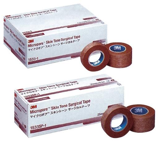 スリーエムジャパンヘルスケアカンパニー マイクロポアスキントーンサージカルテープ サイズ:25.0mm×9.1m 入数:12巻 1533-1【代引不可】