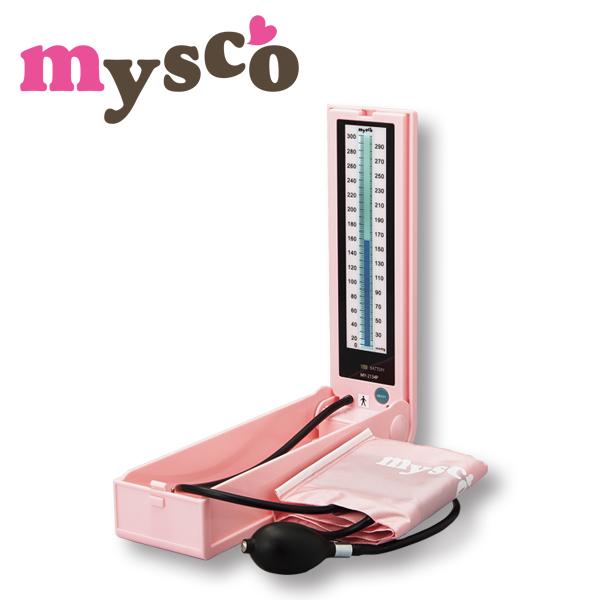 マイスコ 水銀レス血圧計 カラー:ピンク MY-2134P【代引不可】