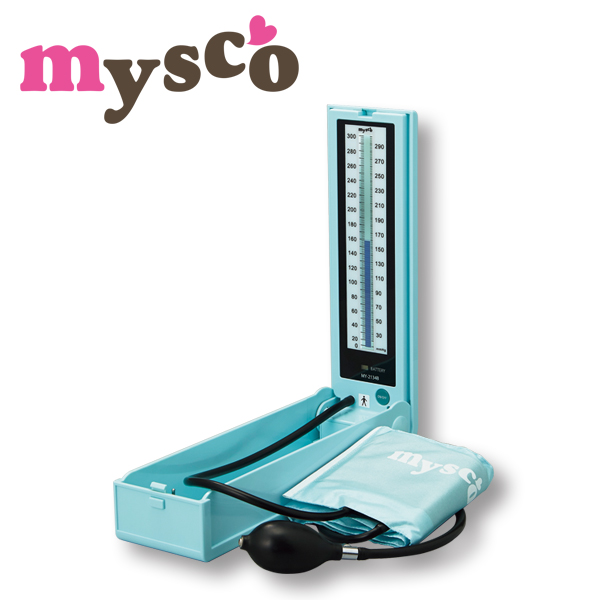 マイスコ 水銀レス血圧計 カラー:ブルー MY-2134B【代引不可】