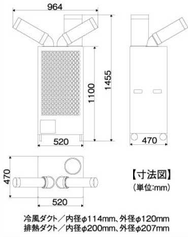 中臣摆动双管现货冷却器囊 4500 (三相 200 V)