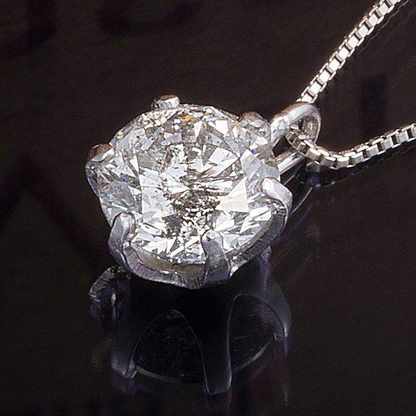 プラチナPT999 0.5ctダイヤモンドペンダント/ネックレス (鑑別書付き)【代引不可】【北海道・沖縄・離島配送不可】