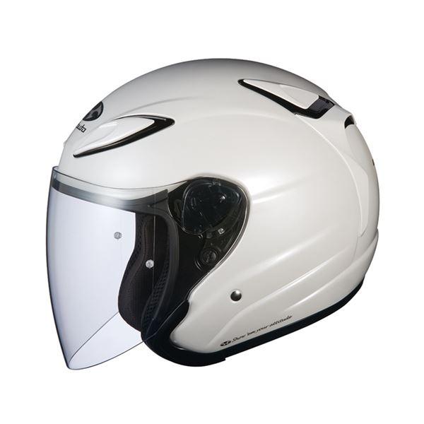 【送料無料】AVAND2 ジェットヘルメット シールド付き パールホワイト XL 〔バイク用品〕【代引不可】