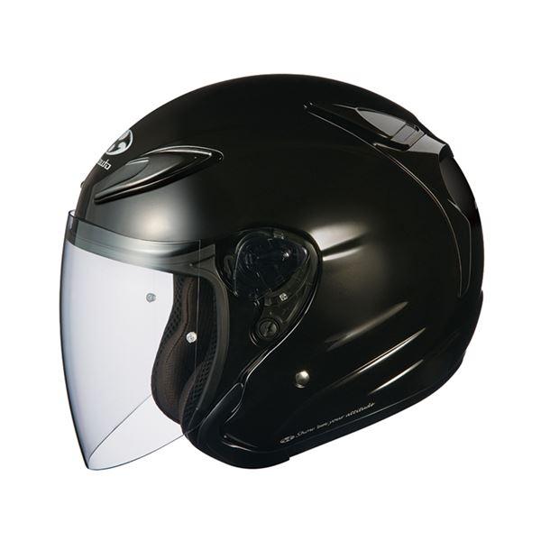 【送料無料】AVAND2 ジェットヘルメット シールド付き ブラックメタリック L 〔バイク用品〕【代引不可】