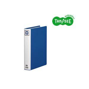 (まとめ)TANOSEE 両開きパイプ式ファイルV A4タテ 40mmとじ 青 30冊【代引不可】