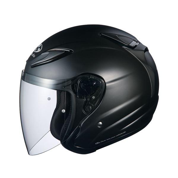 【送料無料】AVAND2 ジェットヘルメット シールド付き フラットブラック XL 〔バイク用品〕【代引不可】