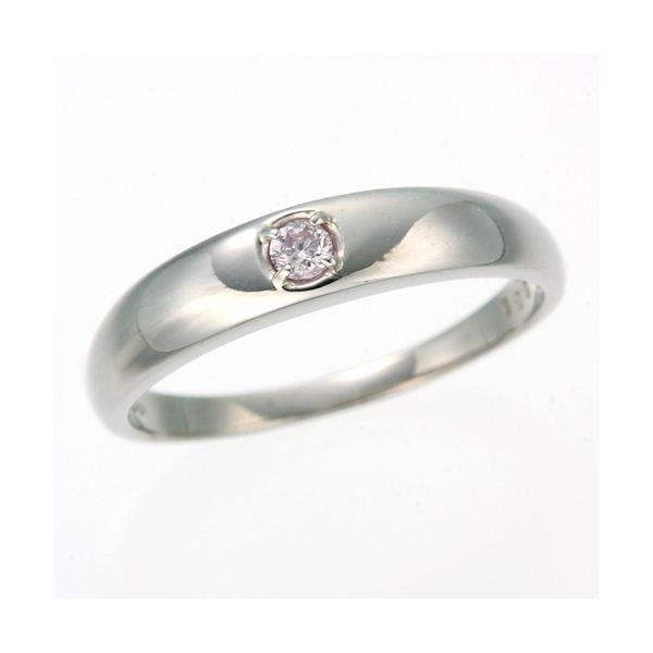 0.05ctピンクダイヤリング 指輪 ストレート 7号【代引不可】【北海道・沖縄・離島配送不可】