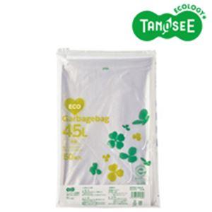 【送料無料】(まとめ)TANOSEE ポリエチレン収集袋 透明 45L 50枚入×15パック【代引不可】