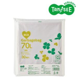(まとめ)TANOSEE ポリエチレン収集袋 透明 70L 30枚入×15パック【代引不可】