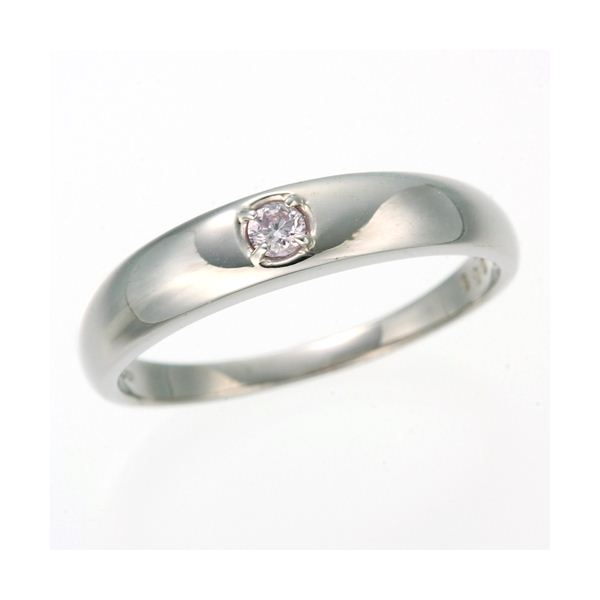 【送料無料】0.05ctピンクダイヤリング 指輪 ストレート 19号【代引不可】