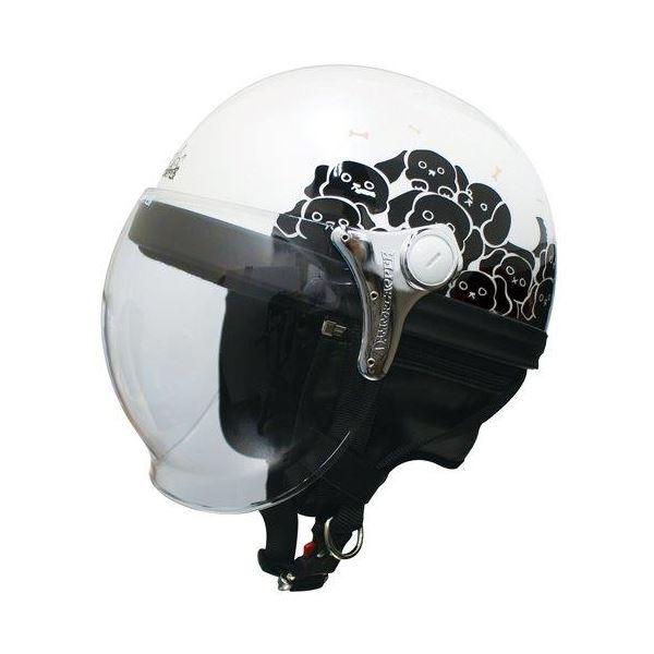 ダムトラックス(DAMMTRAX) ハーフヘルメット CARINA HARF(カリーナハーフ) ホワイト/DOG レディース(57cm~58cm)【代引不可】【北海道・沖縄・離島配送不可】