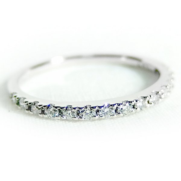 プラチナPT900 天然ダイヤリング 指輪 ダイヤ0.20ct 11.5号 Good H SI ハーフエタニティリング【代引不可】【北海道・沖縄・離島配送不可】