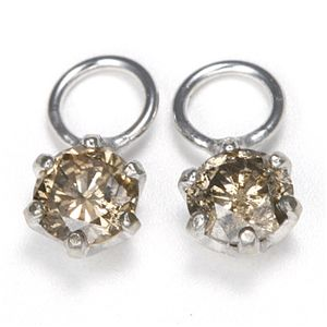 K18 0.2ctダイヤモンドチャーム ホワイト(WG)【代引不可】【北海道・沖縄・離島配送不可】