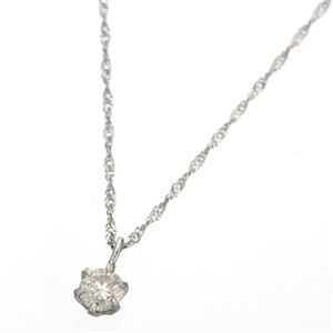 K18ダイヤモンド0.1ctペンダント ホワイトゴールド【代引不可】【北海道・沖縄・離島配送不可】