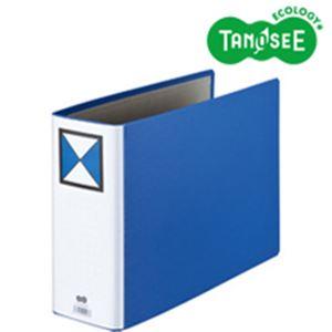 (まとめ)両開きパイプ式ファイル A4-E 80mmとじ 青 10冊【代引不可】