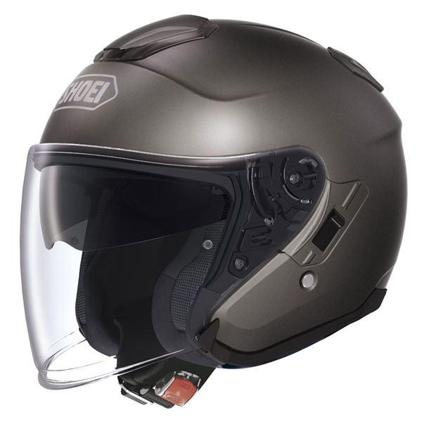 【送料無料】ジェットヘルメット シールド付き J-CRUISE アンスラサイトメタリック S 〔バイク用品〕【代引不可】