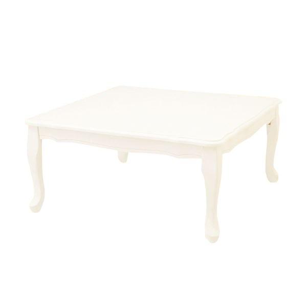 折れ脚式プリンセス猫足テーブル(折りたたみテーブル) 〔3: 正方形〕 木製 姫系 ブラック(黒)【代引不可】