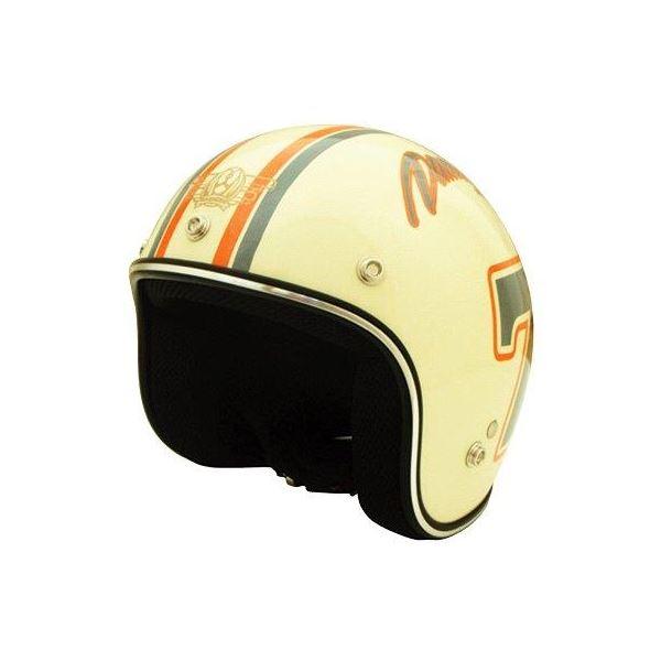 ダムトラックス(DAMMTRAX) ヘルメット ポポセブンヘルメット アイボリー キッズ【代引不可】【北海道・沖縄・離島配送不可】