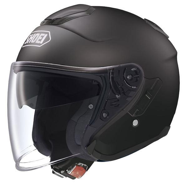 【送料無料】ジェットヘルメット シールド付き J-CRUISE マットブラック XL 〔バイク用品〕【代引不可】