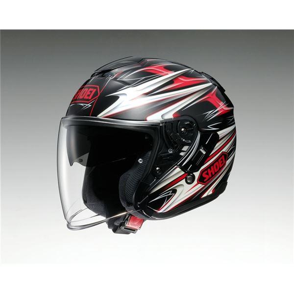 【送料無料】ジェットヘルメット シールド付き J-CRUISE CLEAVE TC-1 レッド/ブラック M 〔バイク用品〕【代引不可】