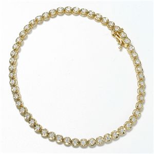 K18 1CTダイヤモンドテニスブレスレット YG(イエローゴールド)【代引不可】【北海道・沖縄・離島配送不可】