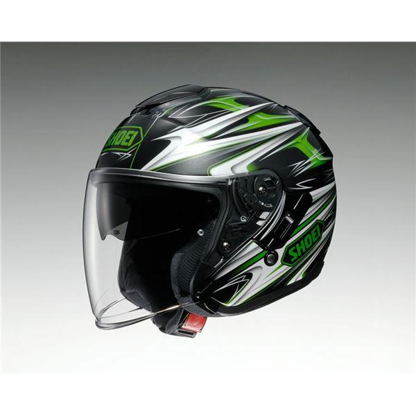 【送料無料】ジェットヘルメット シールド付き J-CRUISE CLEAVE TC-4 グリーン/ブラック XL 〔バイク用品〕【代引不可】