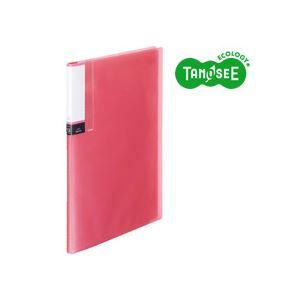 (まとめ)TANOSEE クリアブック(透明表紙) A4タテ 12ポケット ピンク 60冊【代引不可】【北海道・沖縄・離島配送不可】