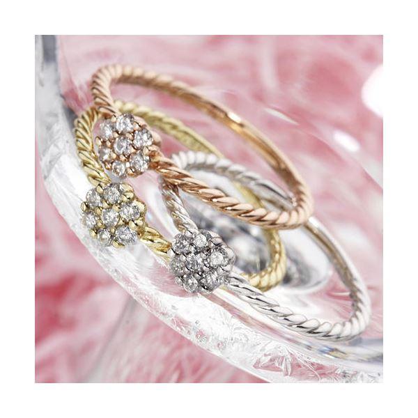 【送料無料】k18ダイヤリング 指輪 WG(ホワイトゴールド) 15号【代引不可】