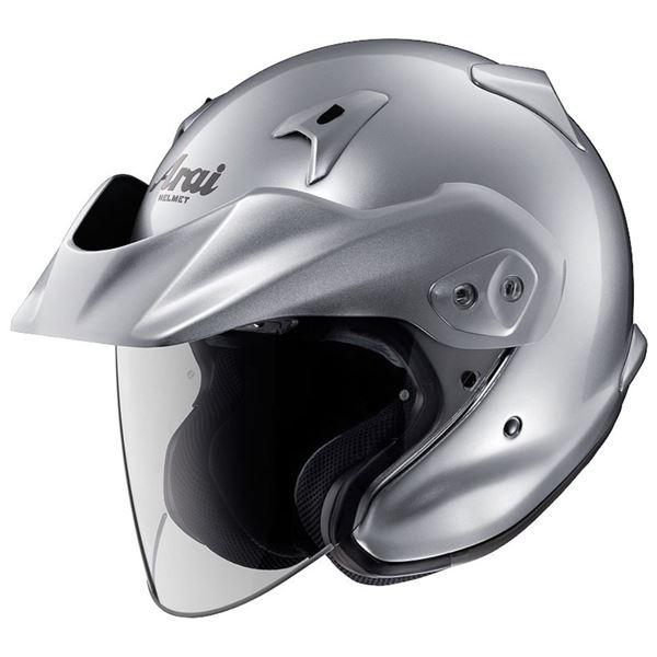 【送料無料】アライ(ARAI) ジェットヘルメット CT-Z アルミナシルバー L 59-60cm【代引不可】