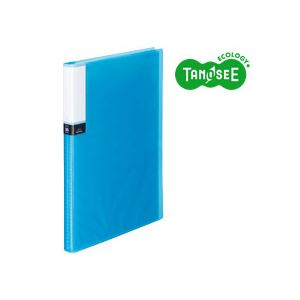 (まとめ)TANOSEE クリアブック(透明表紙) A4タテ 36ポケット ブルー 30冊【代引不可】【北海道・沖縄・離島配送不可】