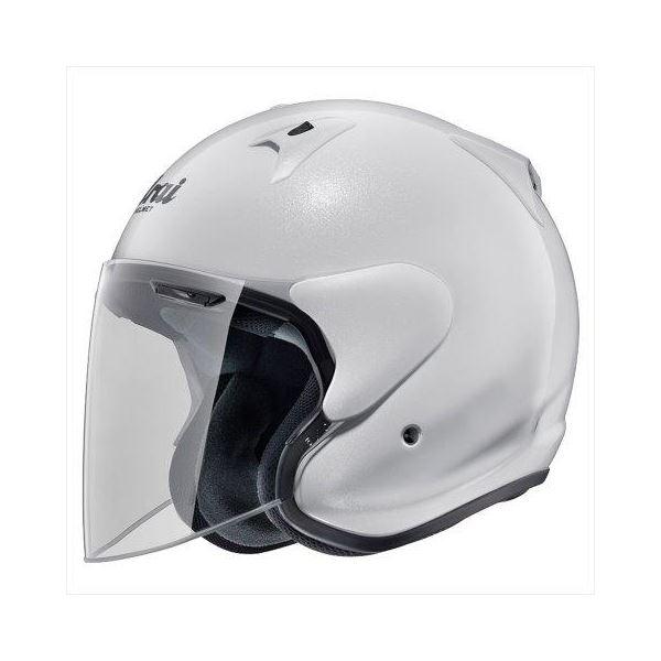 【送料無料】アライ(ARAI) ジェットヘルメット SZ-G グラスホワイト S 55-56cm【代引不可】